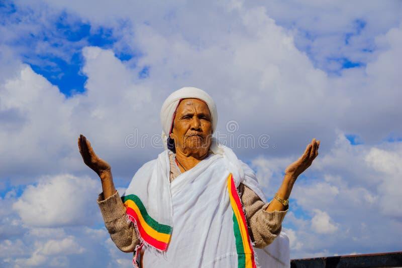 Sigd 2015 - feriado do povo judeu etíope fotos de stock royalty free
