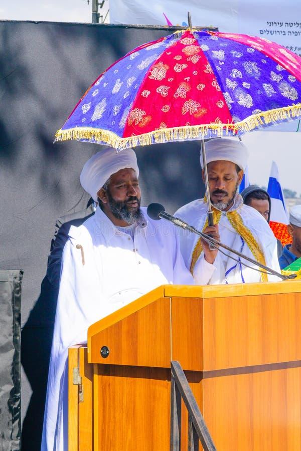 Sigd 2015 - feriado do povo judeu etíope imagem de stock royalty free