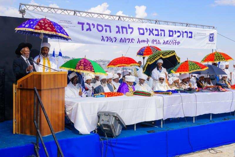 Sigd 2015 - feriado do povo judeu etíope foto de stock royalty free