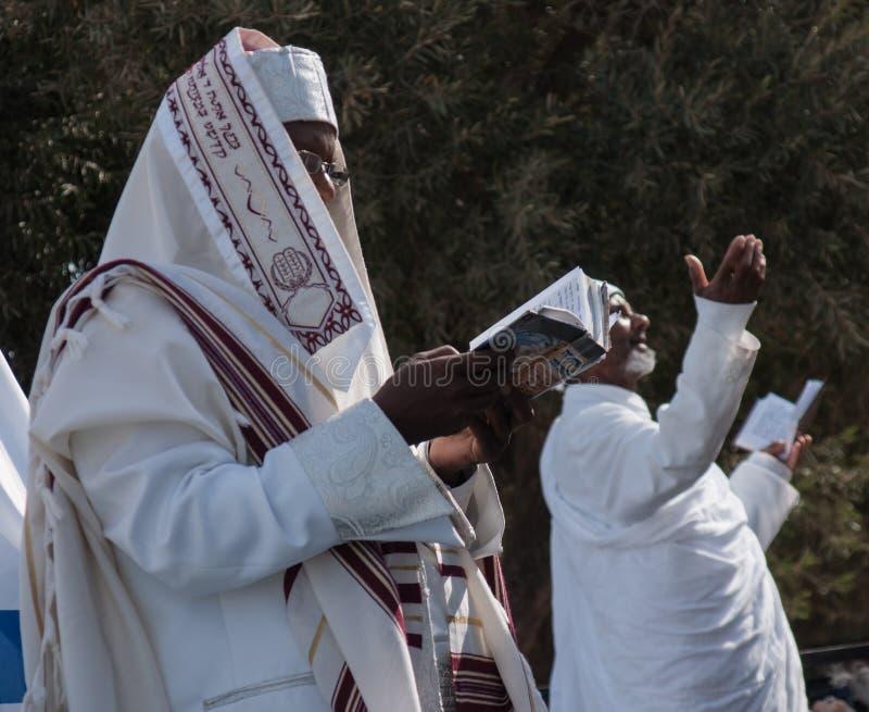 Sigd - judíos etíopes Holyday foto de archivo libre de regalías