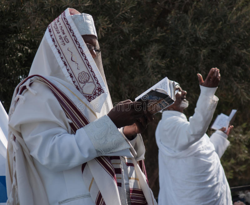 Sigd - judeus etíopes Holyday foto de stock royalty free