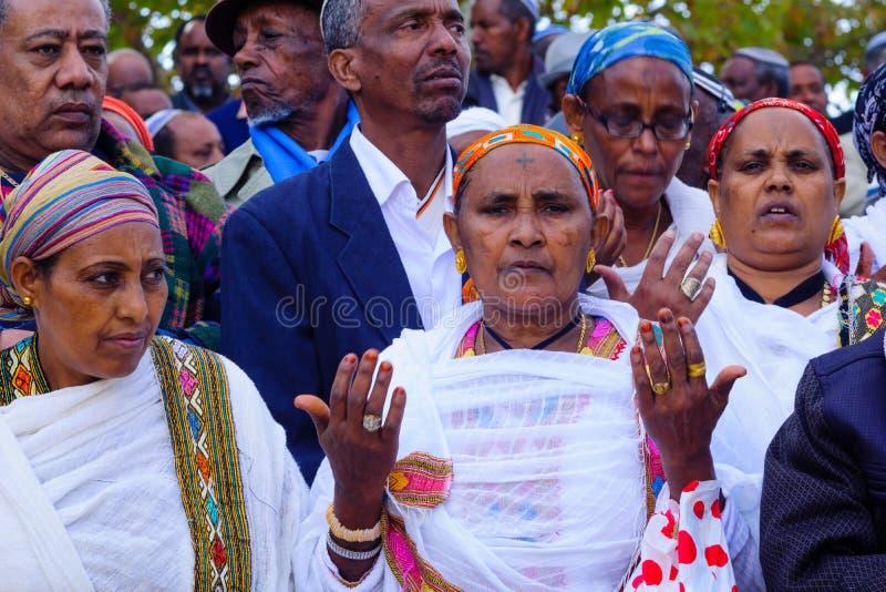 Sigd 2015 - wakacje Etiopski Jewry obraz stock
