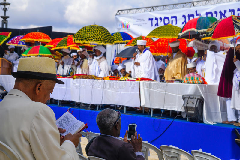 Sigd 2015 - wakacje Etiopski Jewry fotografia stock