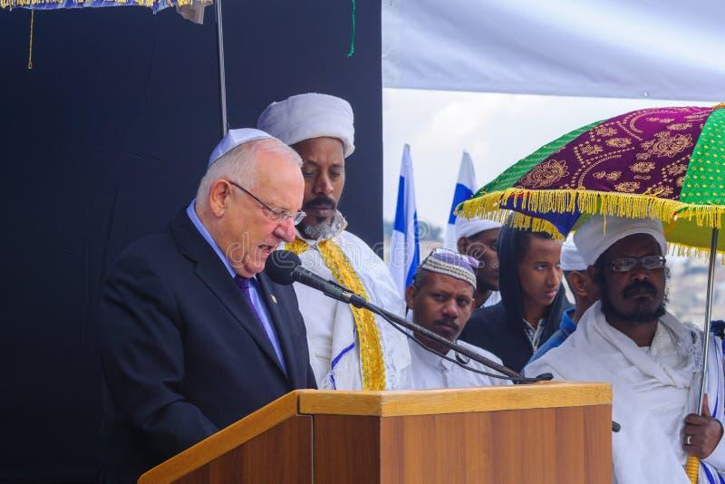 Sigd 2015 - wakacje Etiopski Jewry zdjęcia royalty free