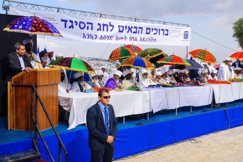 Sigd 2015 - wakacje Etiopski Jewry obraz royalty free
