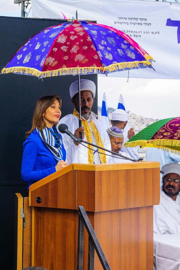 Sigd 2015 - wakacje Etiopski Jewry zdjęcia stock