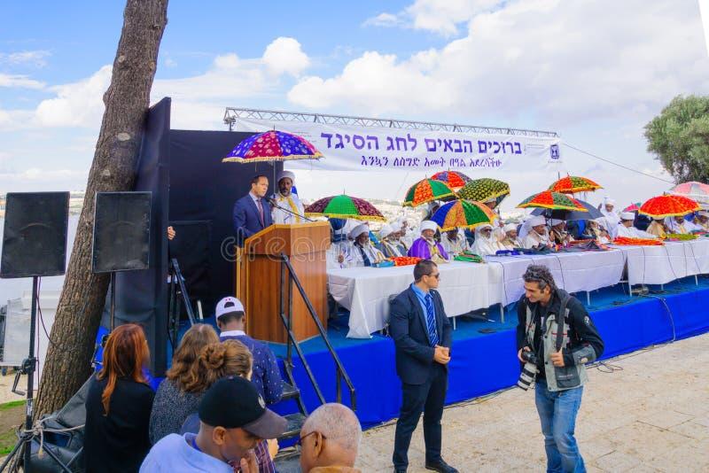 Sigd 2015 - wakacje Etiopski Jewry fotografia royalty free