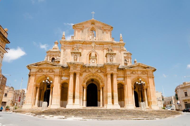Siggiewis cathedrale royaltyfri bild