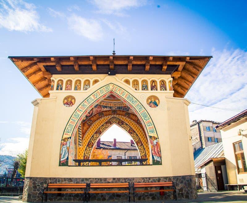 sighetu marmatiei的罗马尼亚教会 免版税库存图片