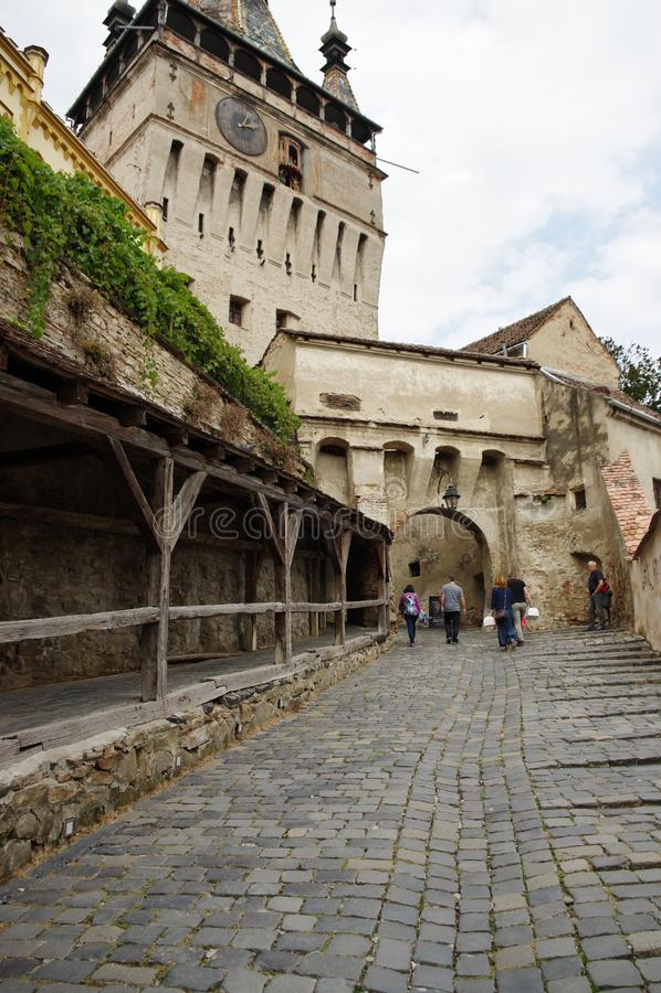 Sighisoara, μεσαιωνική ενισχυμένη πόλη στην Τρανσυλβανία στοκ εικόνες με δικαίωμα ελεύθερης χρήσης