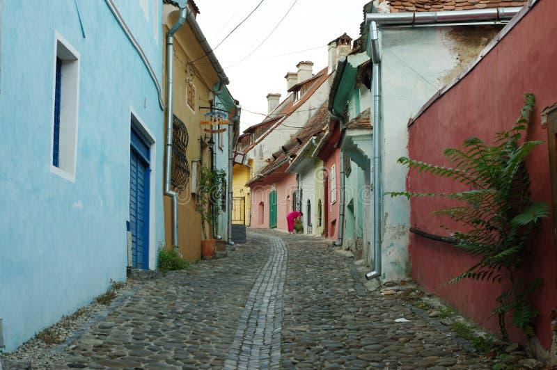 Sighisoara, μεσαιωνική ενισχυμένη πόλη στην Τρανσυλβανία στοκ φωτογραφίες