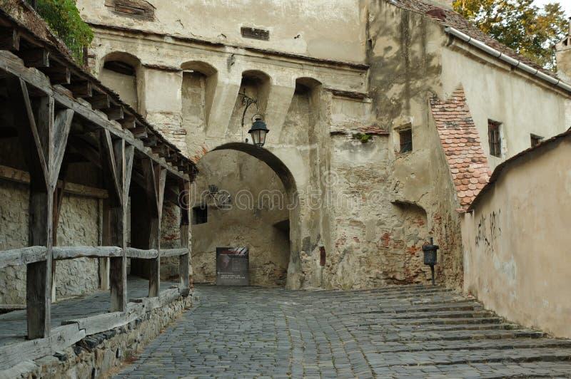 Sighisoara, μεσαιωνική ενισχυμένη πόλη στην Τρανσυλβανία στοκ εικόνα