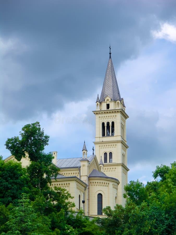 sighisoara города церков стоковое изображение rf