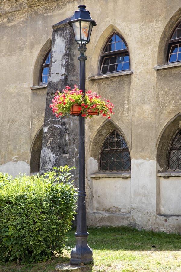 Sighisoara kyrklig kyrktorn arkivbild
