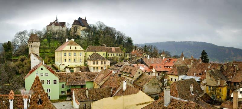 Sighisoara, mittelalterliche Stadt in Transylvanien lizenzfreie stockfotografie