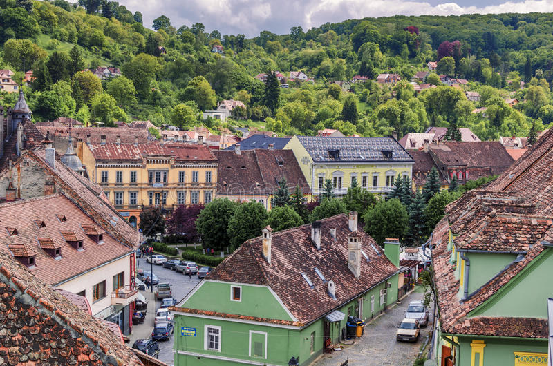 Sighisoara old town, Romania royalty free stock image