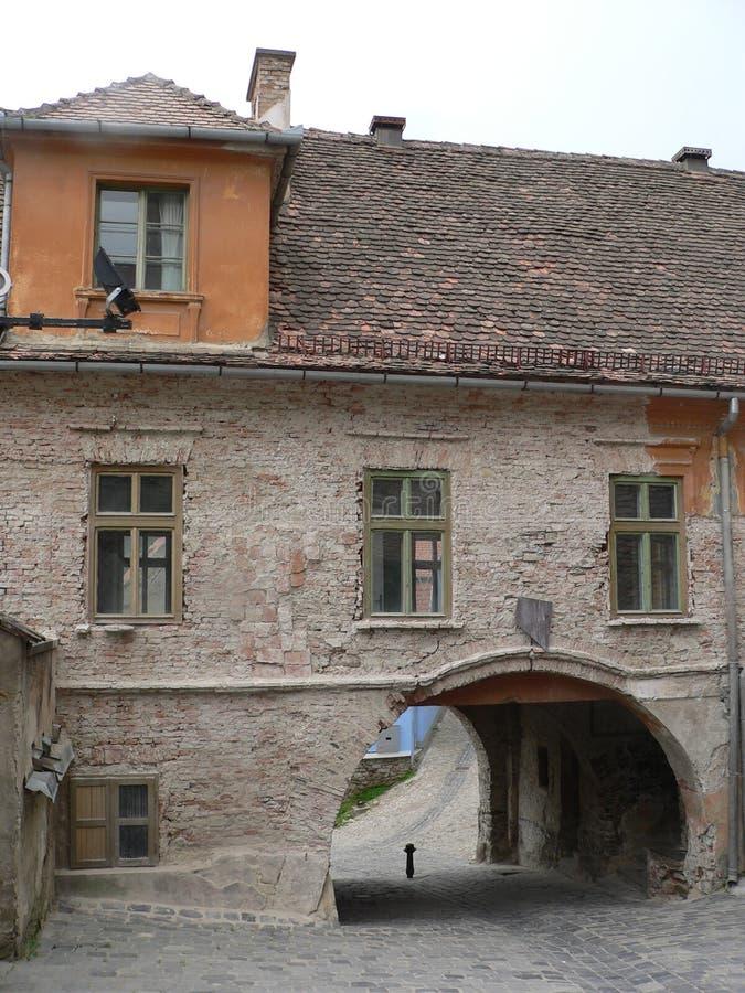 Sighisoara, Roemeni? - Reis en Toerisme Oude Stad stock fotografie