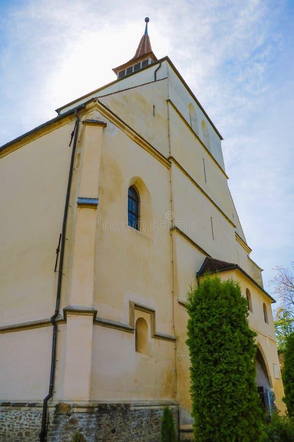 Sighisoara, Romênia, 13 de maio de 2019: Biserica din Deal é uma igreja luterana localizada em School Hill em Sighisoara Fundada  imagens de stock royalty free