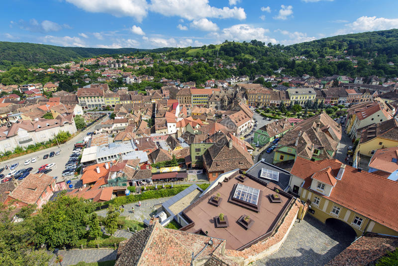 Sighisoara in Romania royalty free stock photos