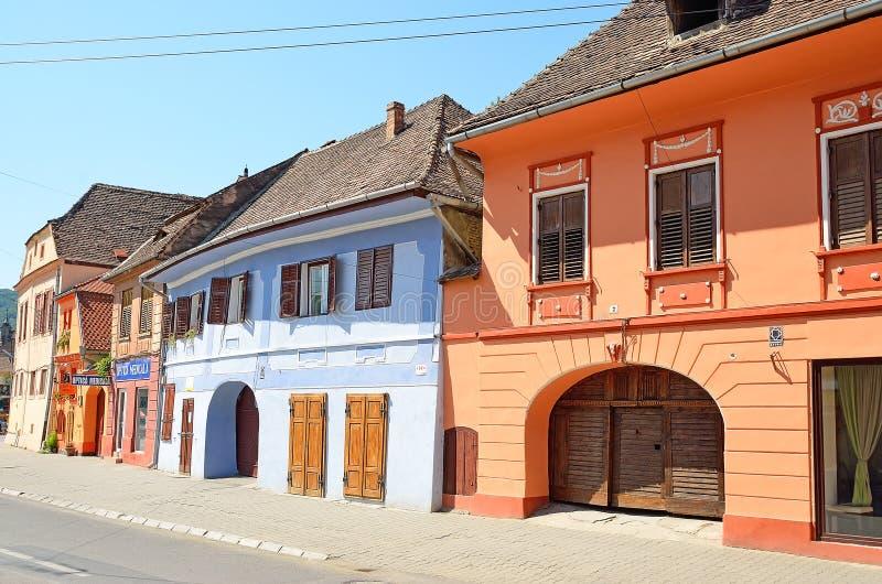 Sighisoara Rumänien royaltyfria foton