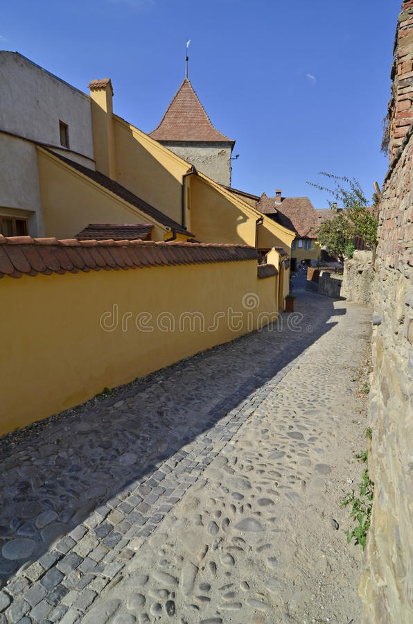 Download Sighisoara tower street stock image. Image of building - 26285225