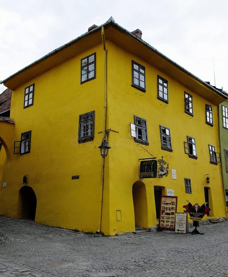 Sighisoara - Transilvânia, Romênia foto de stock