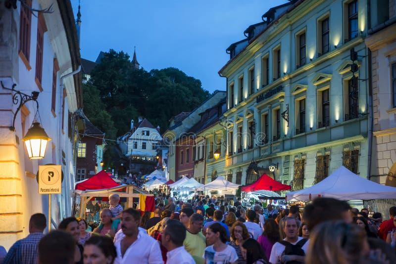 Sighisoara - Transilvânia, Romênia Citadela, atração fotos de stock royalty free
