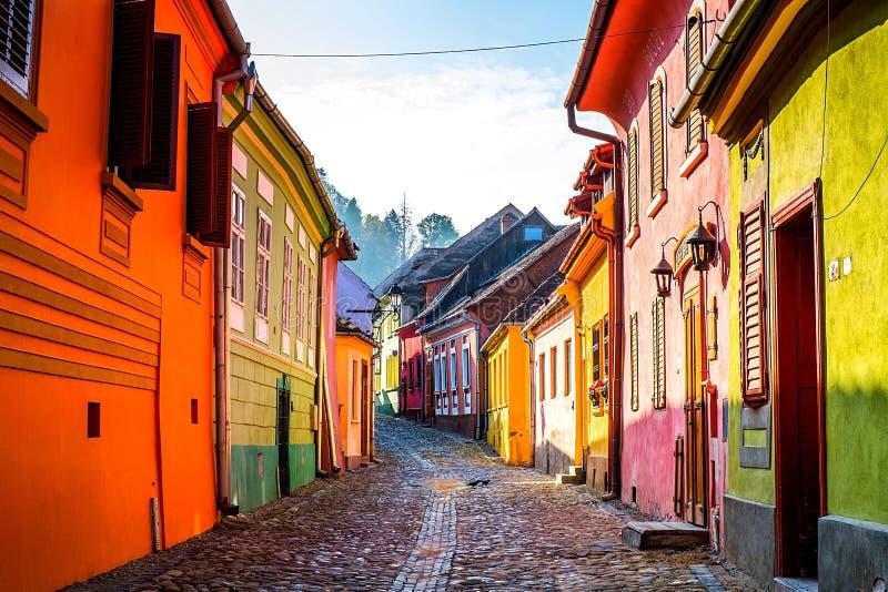 Sighisoara, a Transilvânia, Romania fotografia de stock royalty free