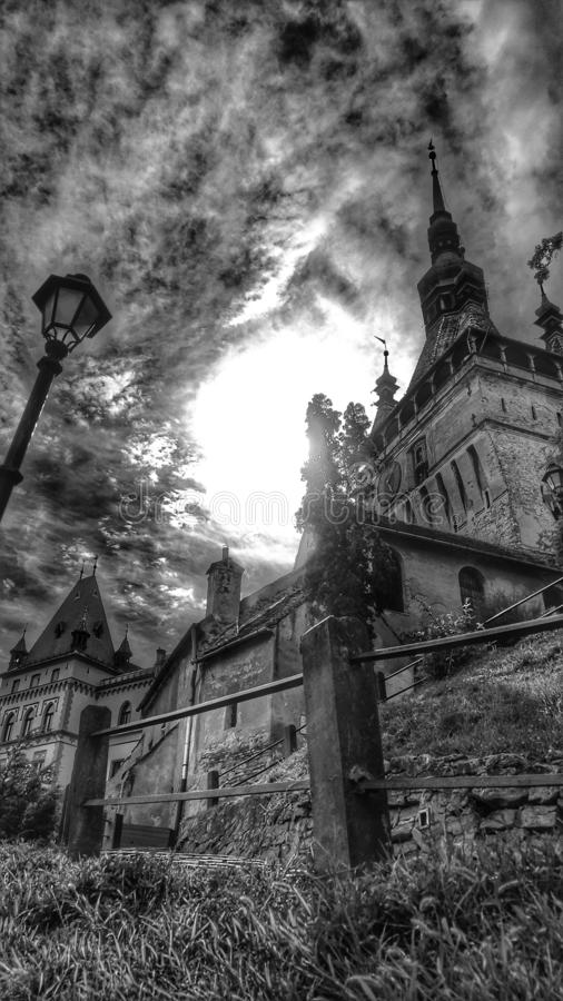 Sighisoara, Transilvany, Roemenië stock foto's