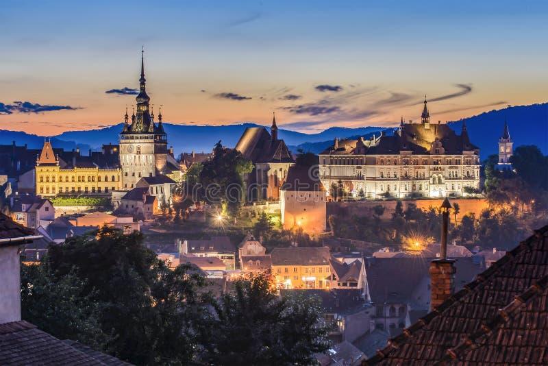 Sighisoara, Transylvania, Румыния стоковое фото rf
