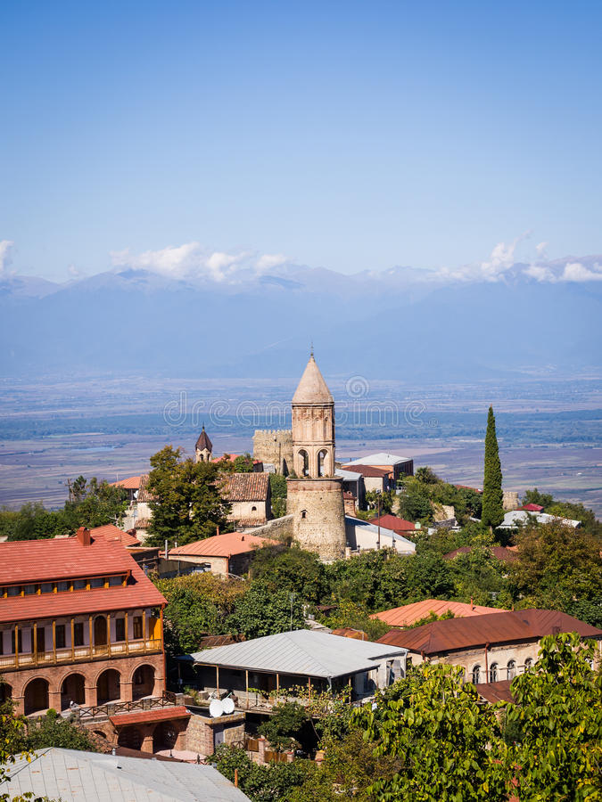 Sighnaghi. The capital of the wine region Kakheti in Georgia, Caucasus stock photos