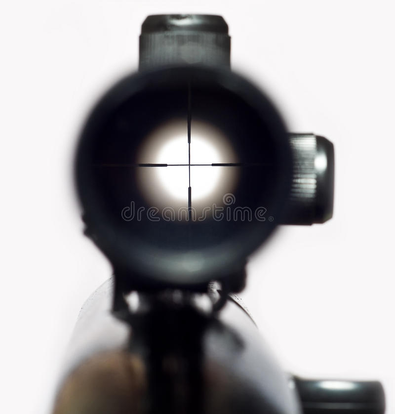 Sight. On a photo the sight on a white background is presented stock images