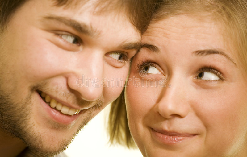 Sight. Pair looking to each other royalty free stock images