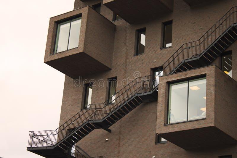 Sight of building in Noorwegen stock foto's