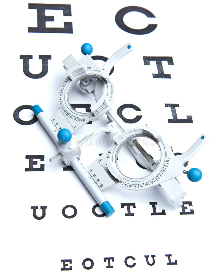 Download Sight Measuring Spectacles & Eye Chart Stock Image - Image: 15425053