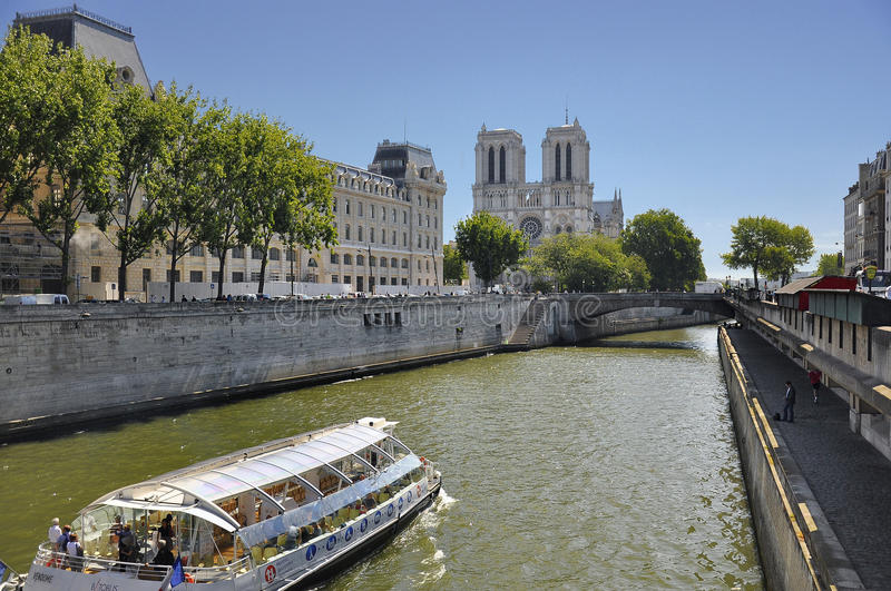 Sight Seeing Boat Tour In Paris France Editorial Stock Photo