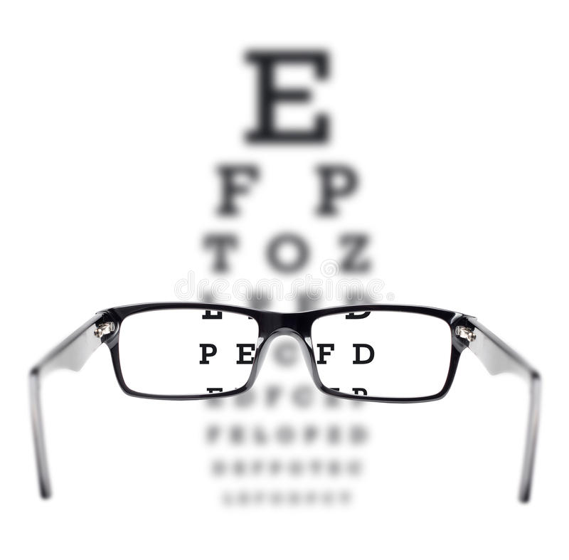 Download Sight Test Seen Through Eye Glasses Stock Image - Image: 25790777
