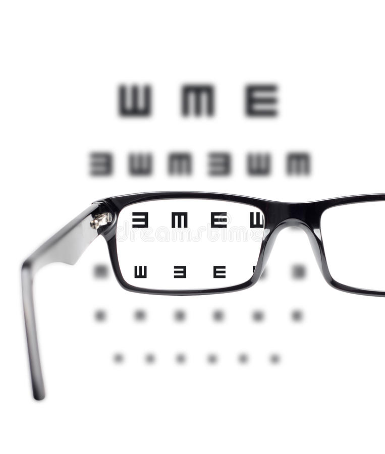 Download Sight Test Seen Through Eye Glasses Stock Image - Image: 25790781