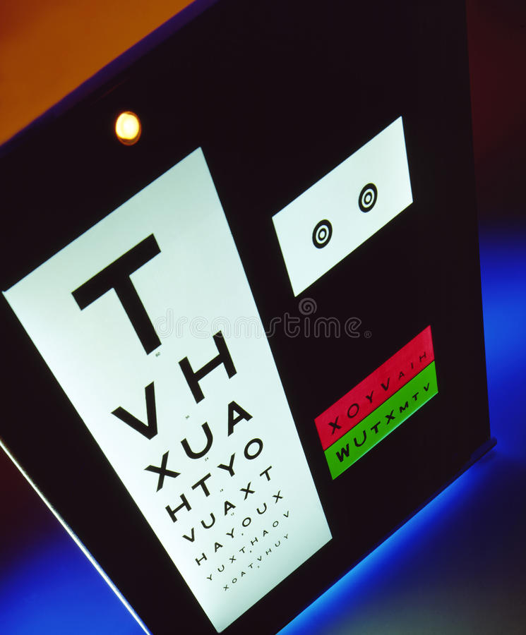 Sight Test - Vision - Optician royalty free stock images