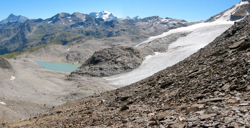 Sight from valgrisenche pass royalty free stock photography