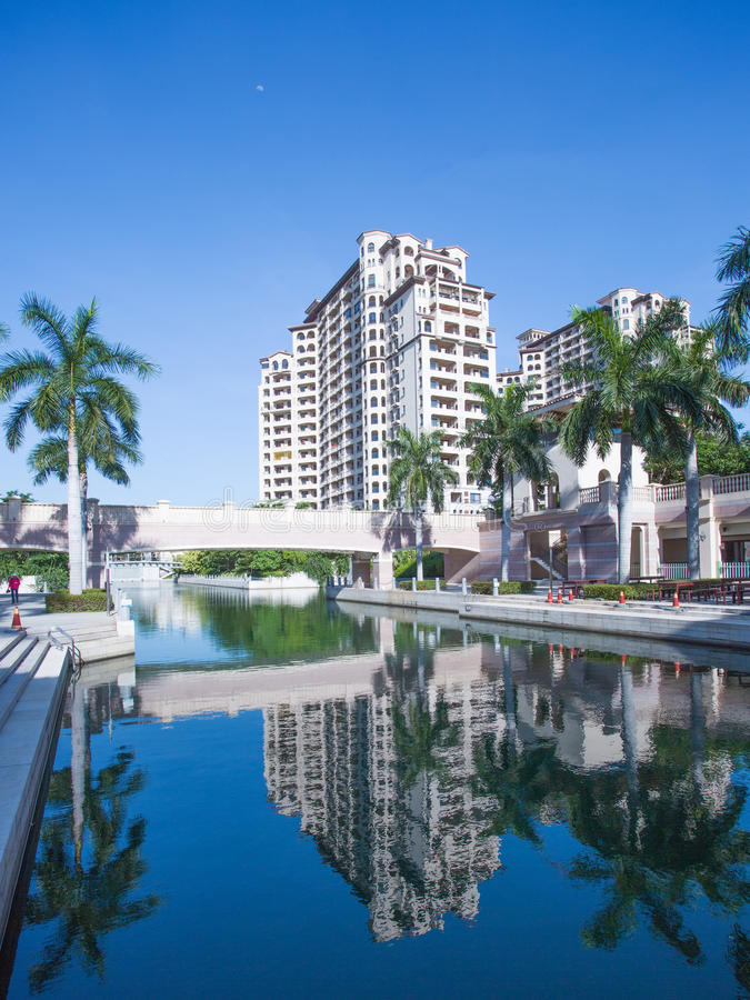 Sight view of deluxe hotel. Located in Hainan China stock images