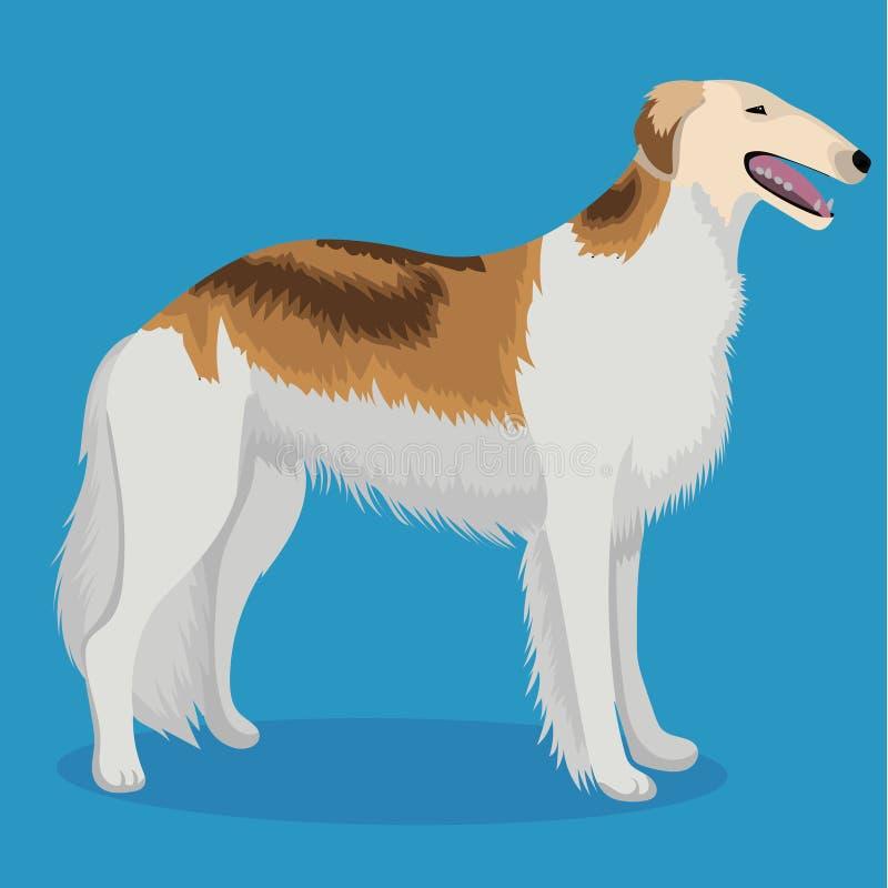 Sighthound russe de chasse illustration libre de droits