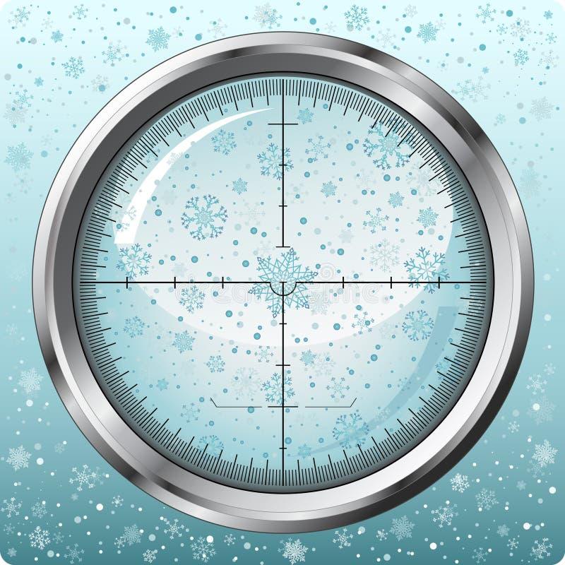 sightprickskyttsnowflakes vektor illustrationer
