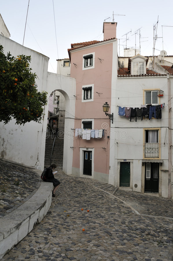Download Sights of Alfama, Lisbon stock photo. Image of melancholy - 7828036