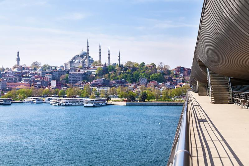 Sights of the city of Istanbul. Architecture and boat trips on ships royalty free stock images