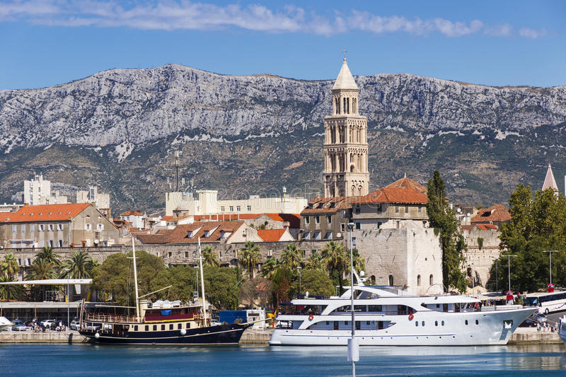 Sights of Croatia. Beautiful city Split. Croatian paradise royalty free stock image