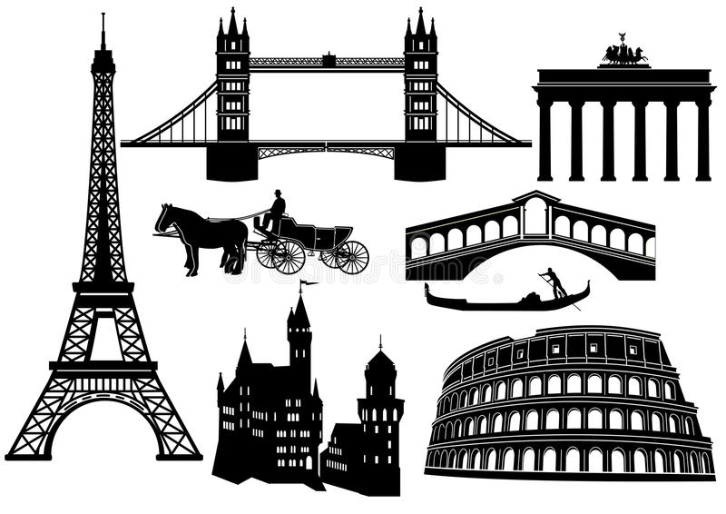 Download Sights in Europe stock vector. Illustration of capital - 21246252
