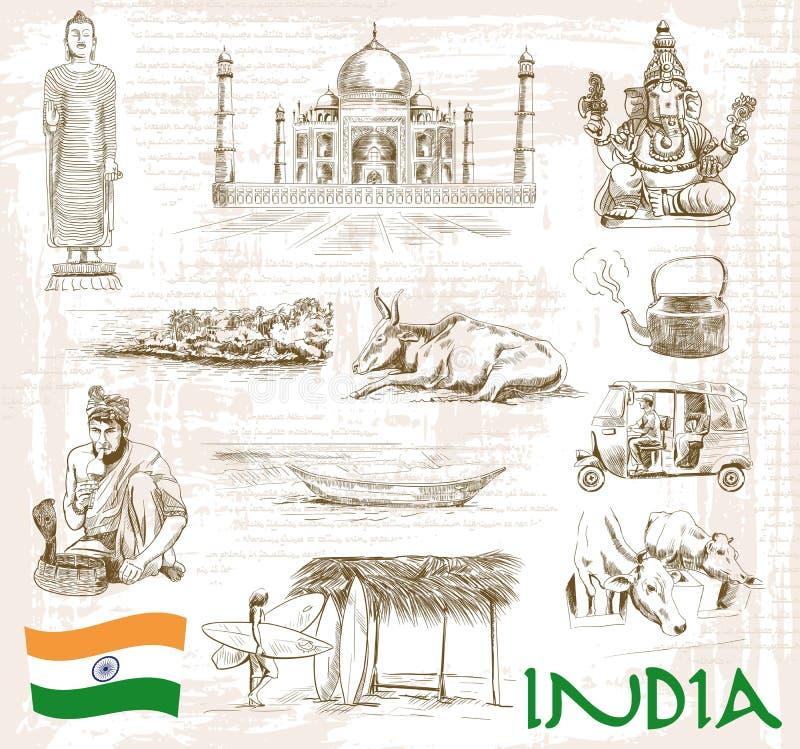 Sights India royalty free illustration