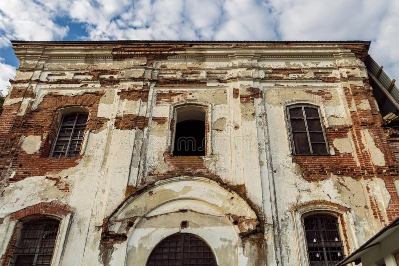 Sights of the Saratov region. Historical building in the Volga region of Russia 19th century 1872 year. A series of photographs of. An old abandoned ruined royalty free stock photos