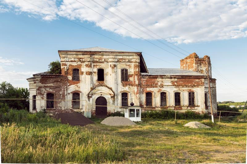 Sights of the Saratov region. Historical building in the Volga region of Russia 19th century 1872 year. A series of photos of an royalty free stock image